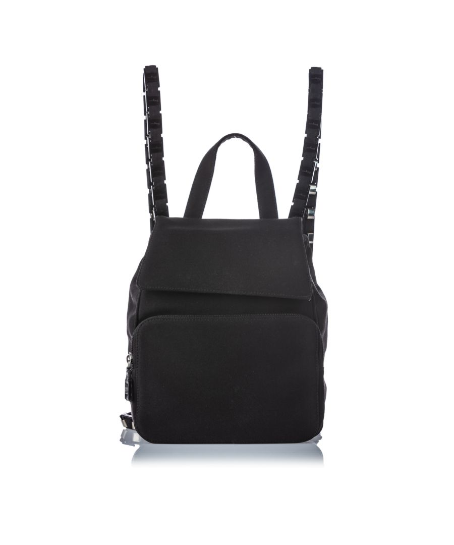 Image for Vintage Ferragamo Nylon Backpack Black