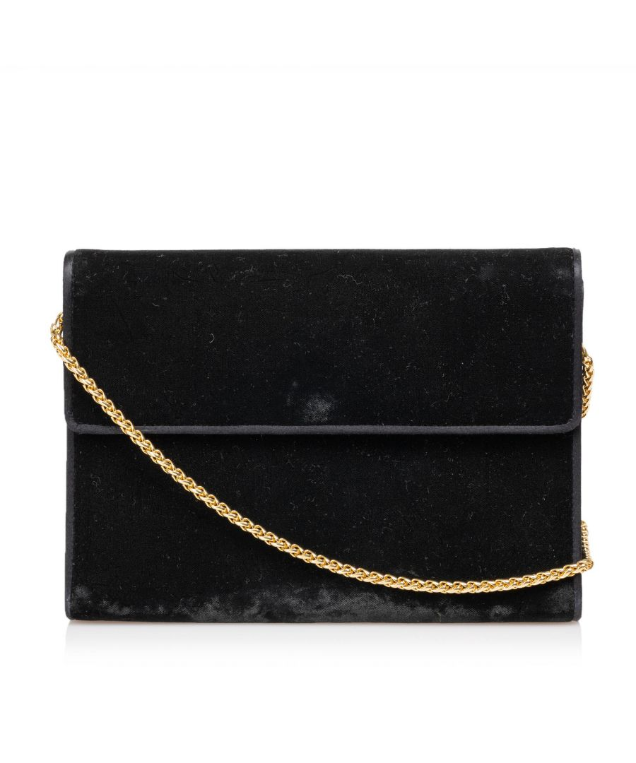 Image for Gucci Velour Chain Crossbody Black