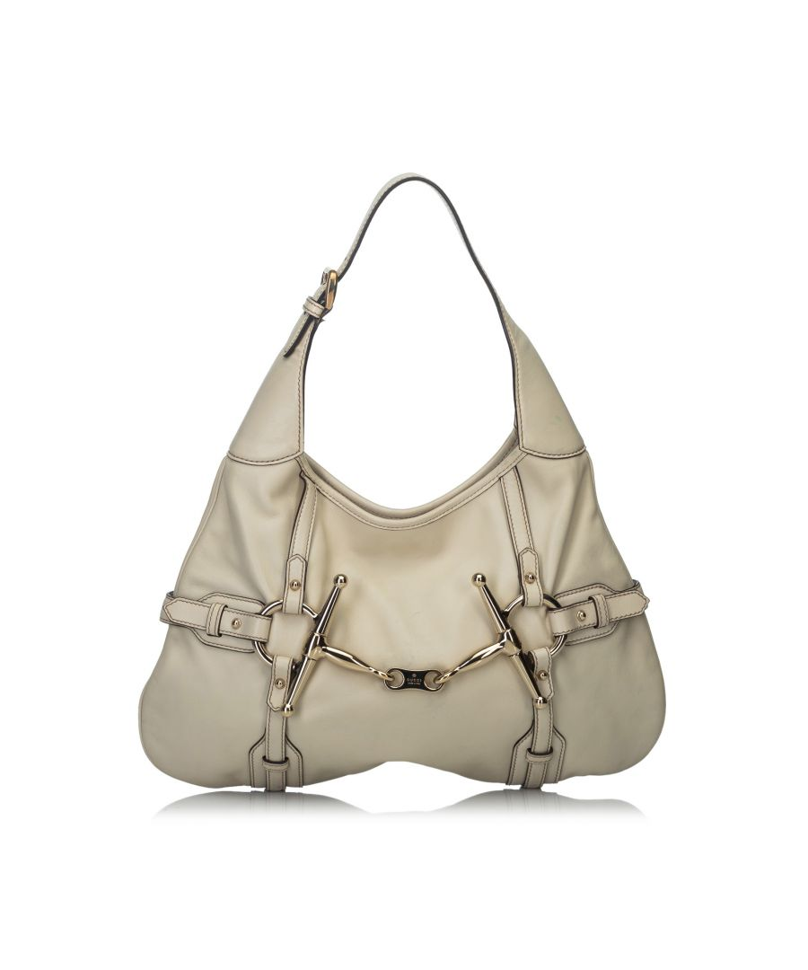Image for Vintage Gucci 85th Anniversary Leather Hobo Bag White