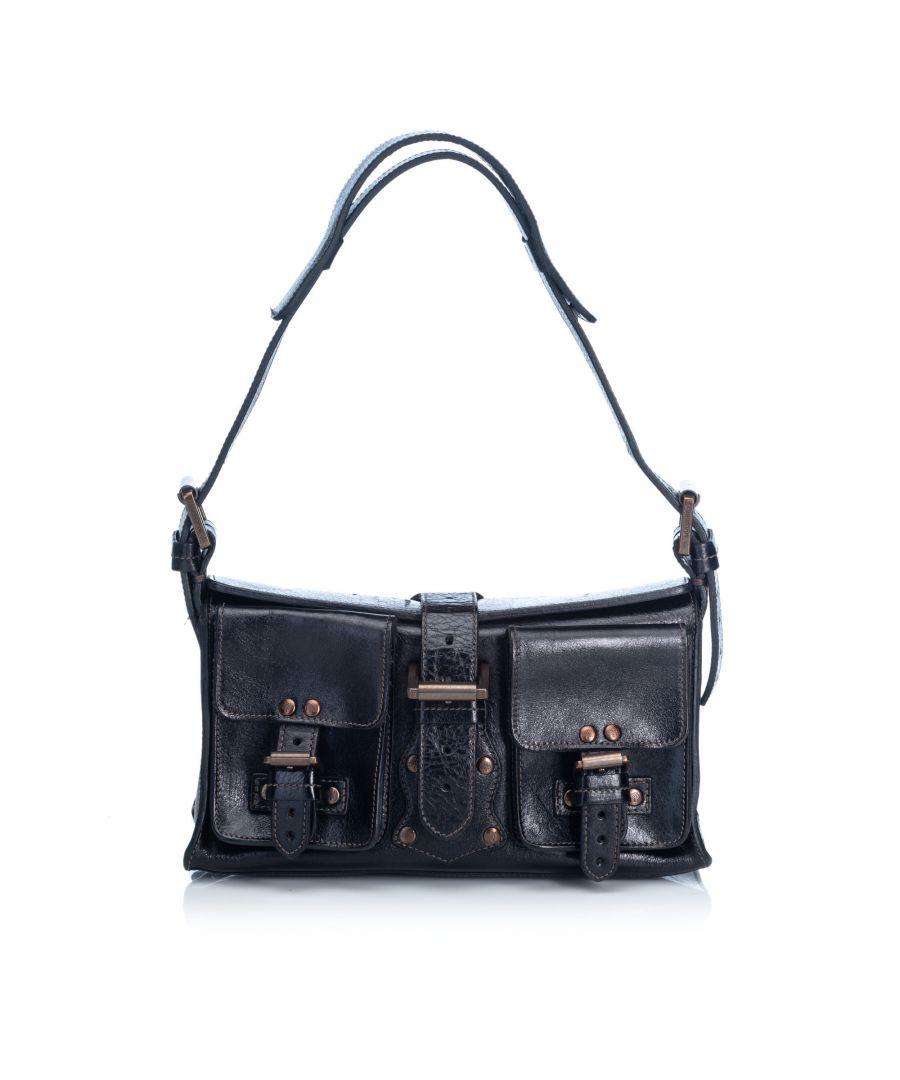 Image for Mulberry Roxanne Leather Shoulder Bag Black