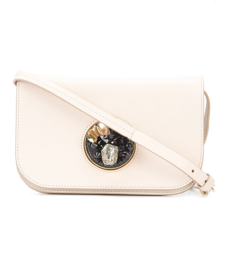 Image for Marni Leather Pois Crossbody Bag White