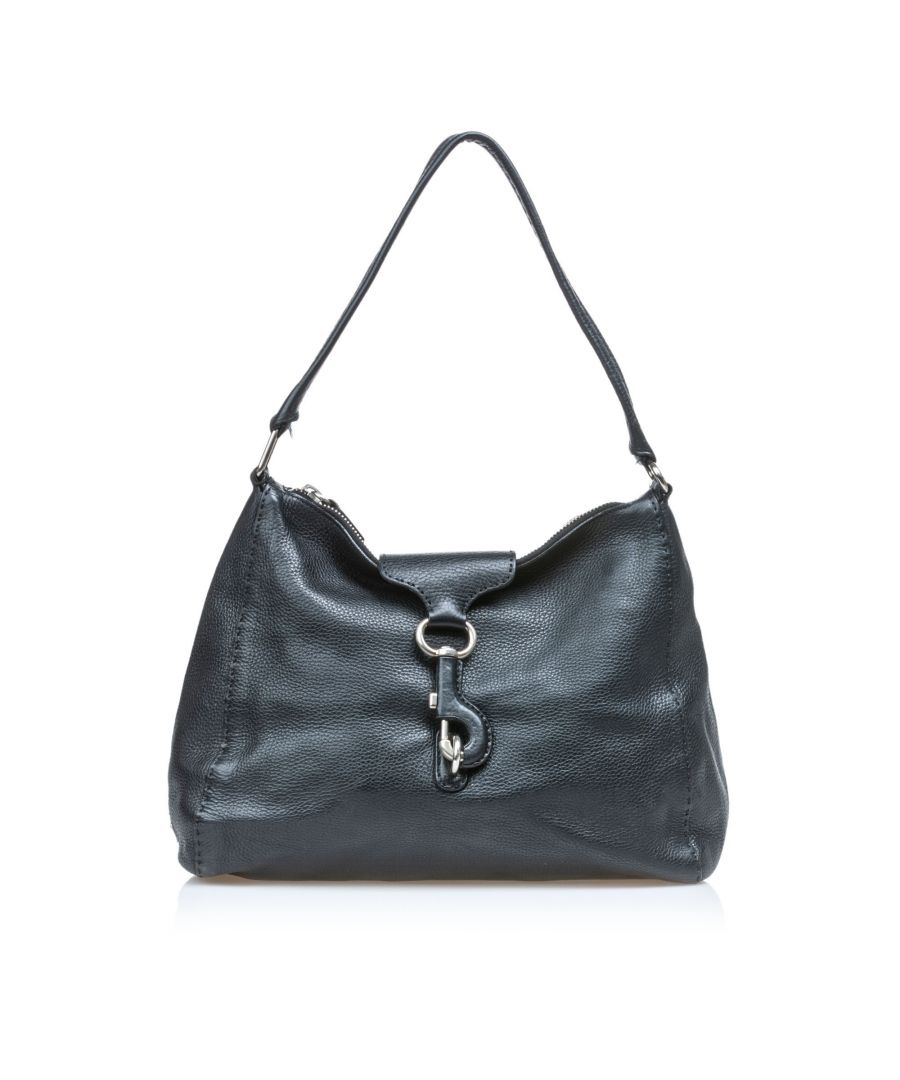 Image for Prada Vitello Daino Leather Shoulder Bag Black