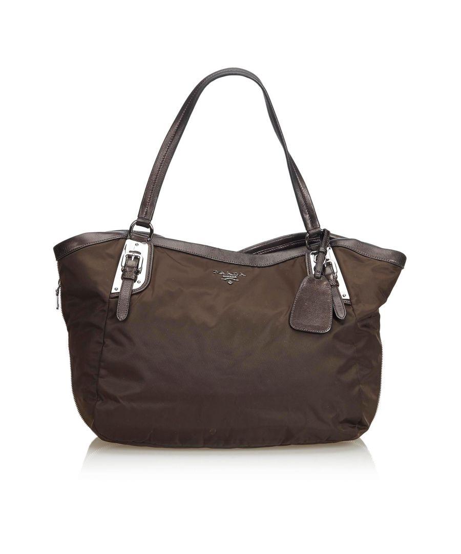 Image for Vintage Prada Nylon Shoulder Bag Brown