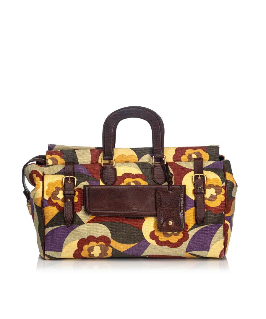 Image for Vintage YSL Printed Canvas Travel Bag Multi