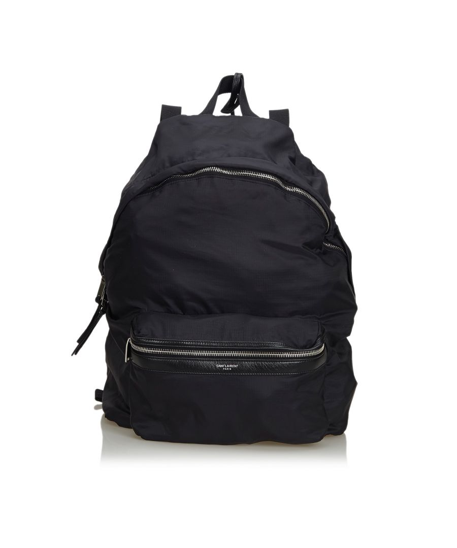 Image for YSL Nylon Foldable Backpack Black