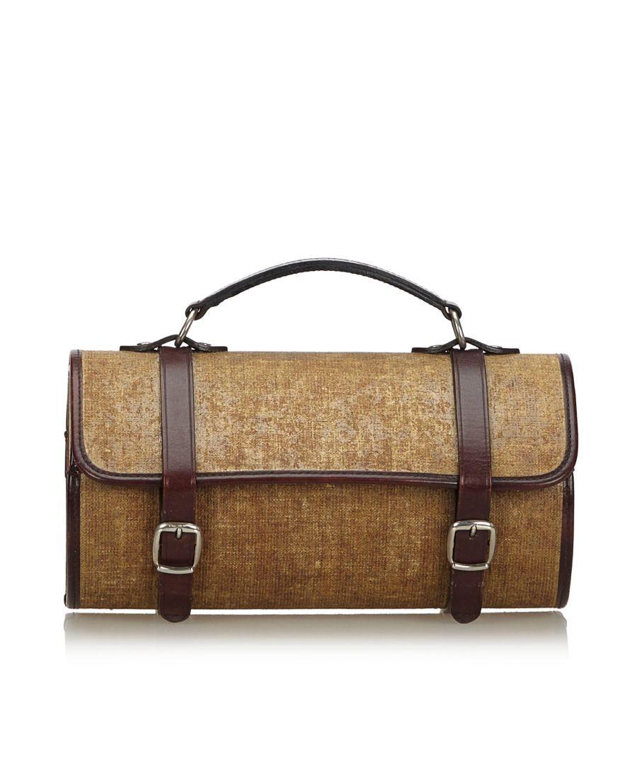 Image for Chanel Fabric Handbag Brown