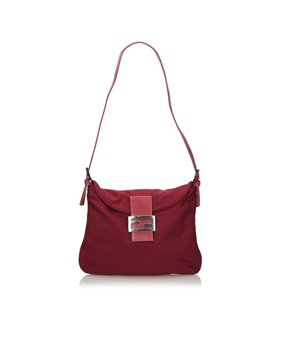 Image for Vintage Fendi Cotton Shoulder Bag Red