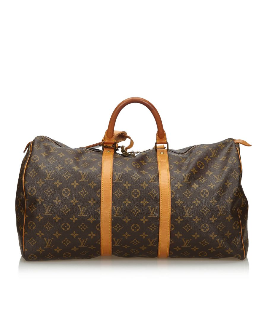 Image for Louis Vuitton Monogram Keepall 50 Brown