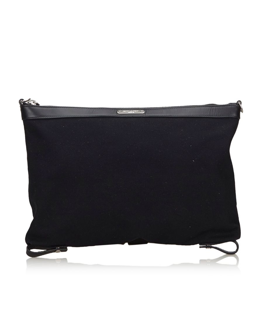 Image for YSL ID Convertible Clutch Bag Black
