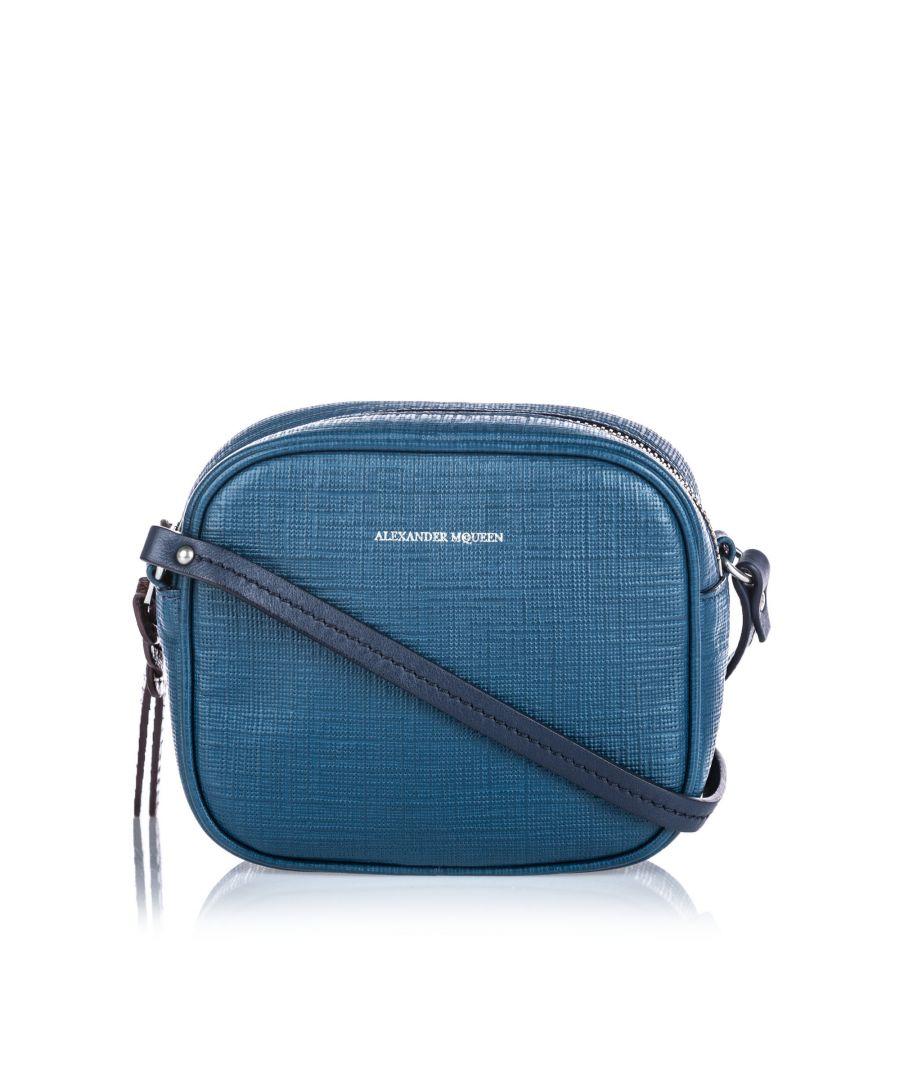 Image for Vintage Alexander McQueen Mini Camera Bag Blue