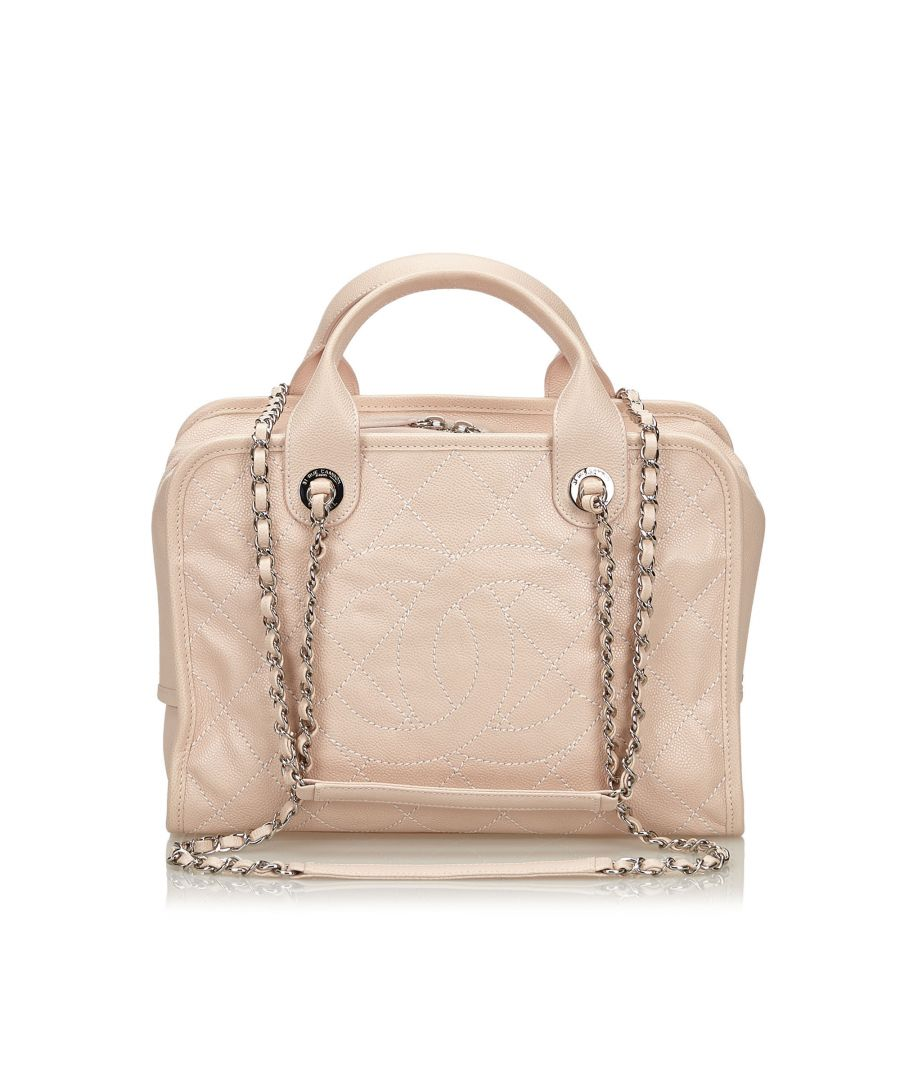 Image for Chanel Caviar Deauville Bowling Bag Pink