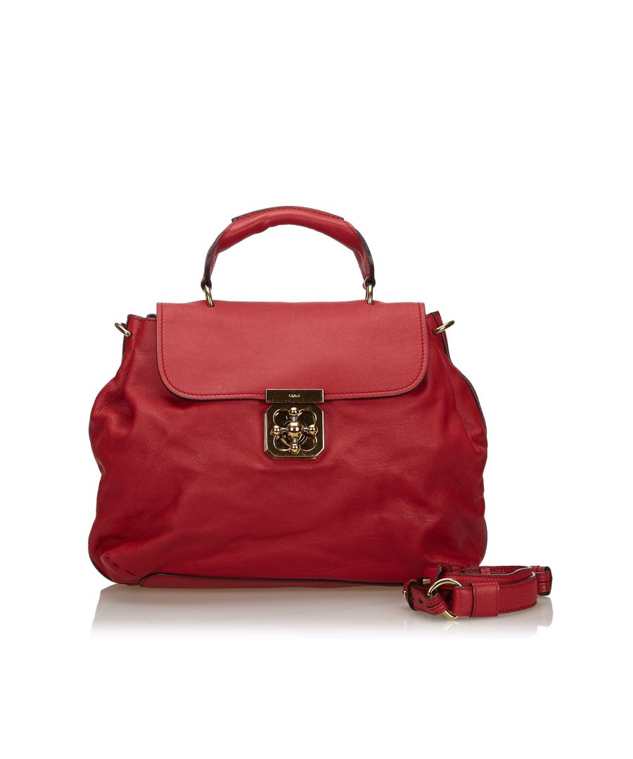 Image for Chloe Leather Elsie Satchel Red