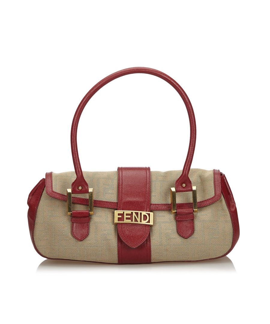 Image for Vintage Fendi Zucca Canvas Handbag Brown