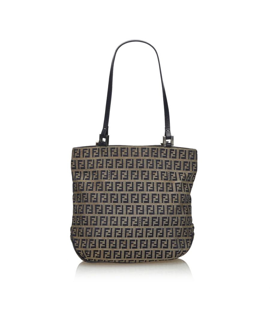 Image for Fendi Zucchino Canvas Tote Bag Gray