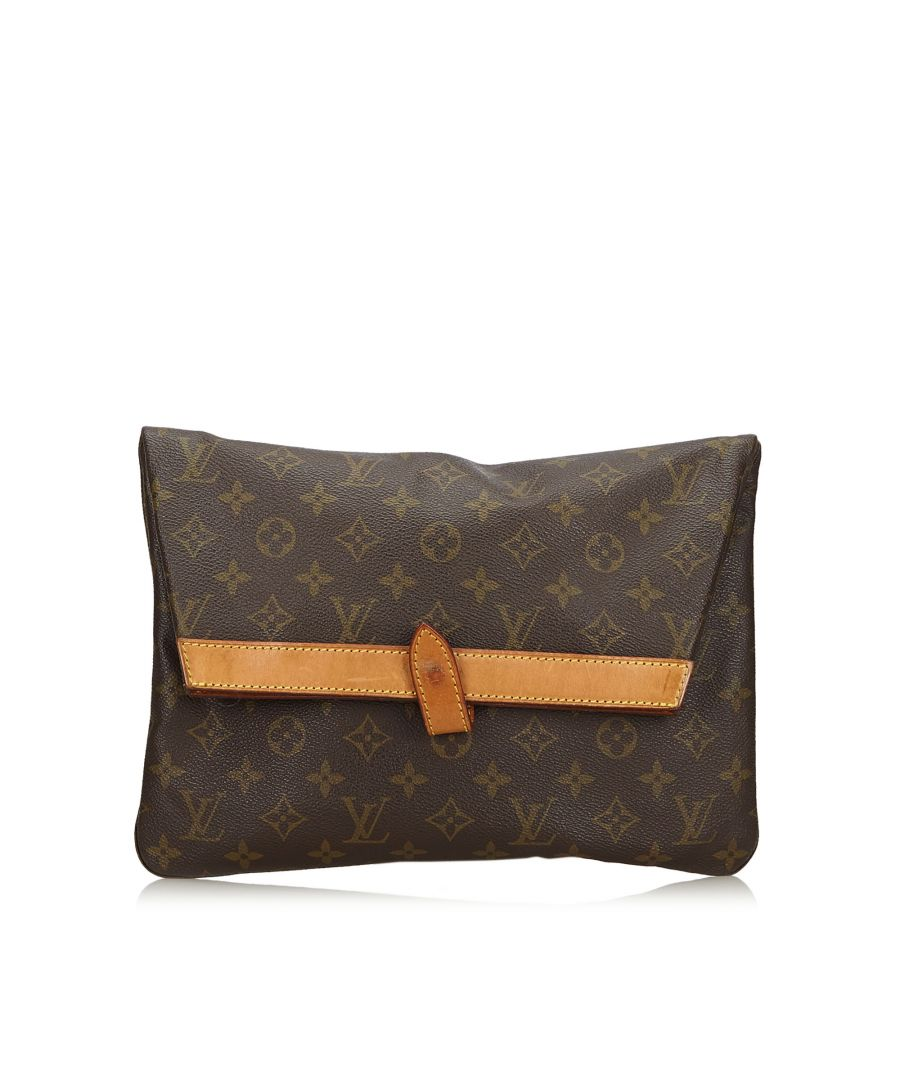 Image for Vintage Louis Vuitton Monogram Pochette Pliant Brown