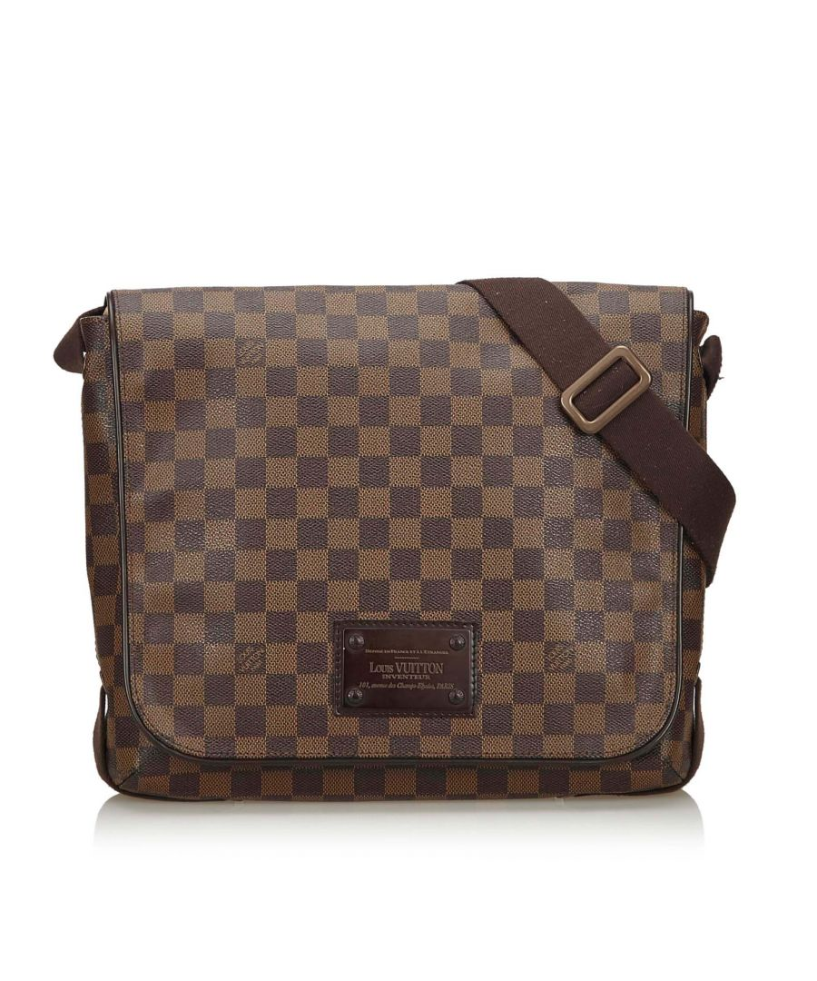 Image for Vintage Louis Vuitton Damier Ebene Brooklyn MM Brown