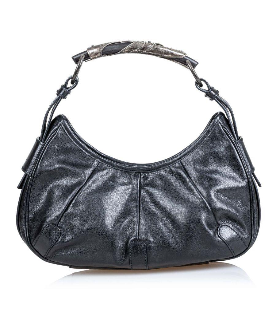 Image for Vintage YSL Leather Mombasa Black