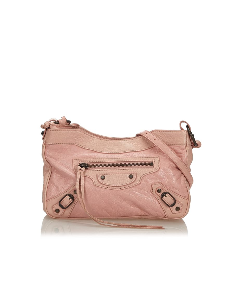 Image for Vintage Balenciaga Classic Hip Crossbody Bag Pink