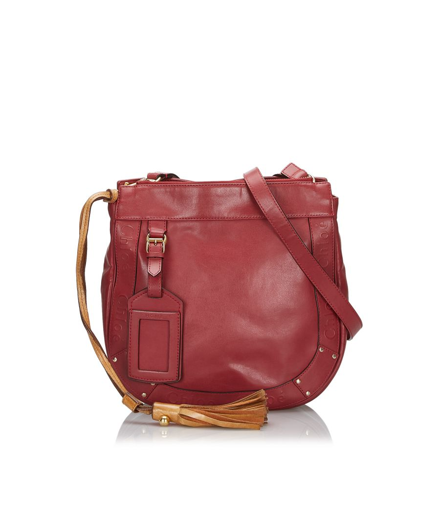 Image for Chloe Leather Eden Crossbody Bag Red