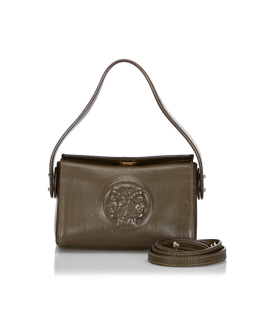 Image for Vintage Fendi Leather Satchel Brown