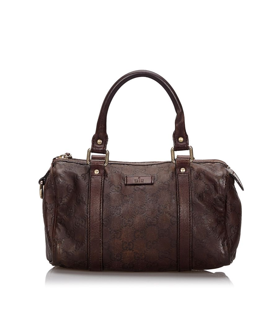 Image for Vintage Gucci Guccissima Joy Boston Bag Brown