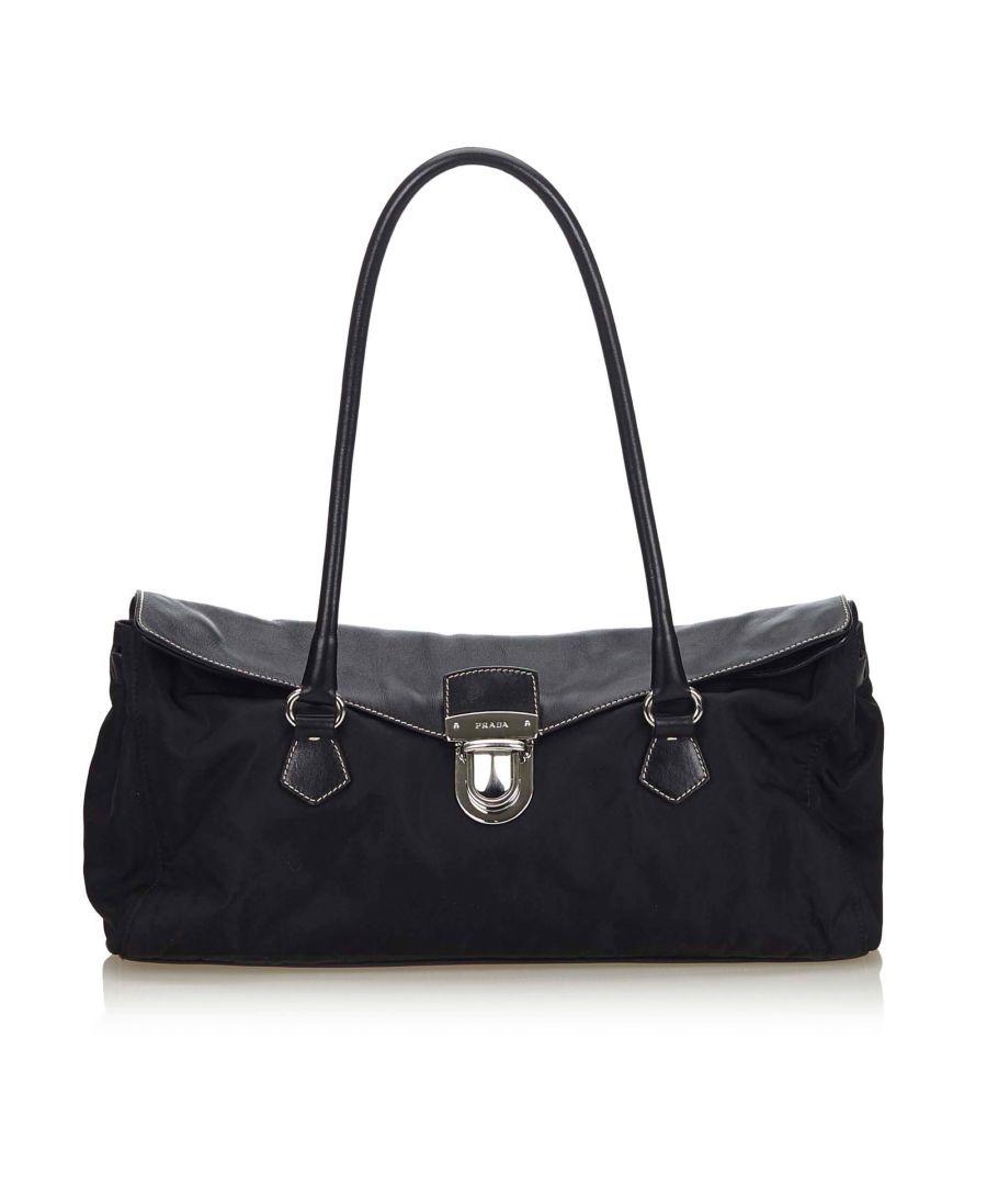 Image for Vintage Prada Nylon Easy Shoulder Bag Black