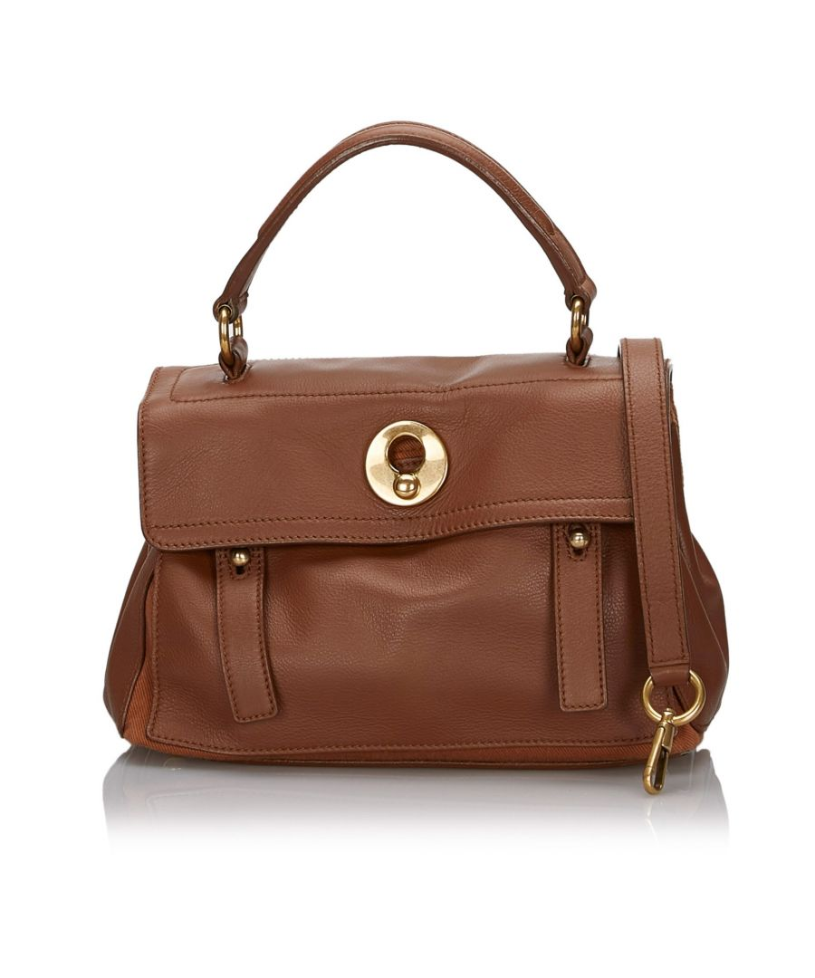Image for Vintage YSL Leather Muse Two Satchel Brown