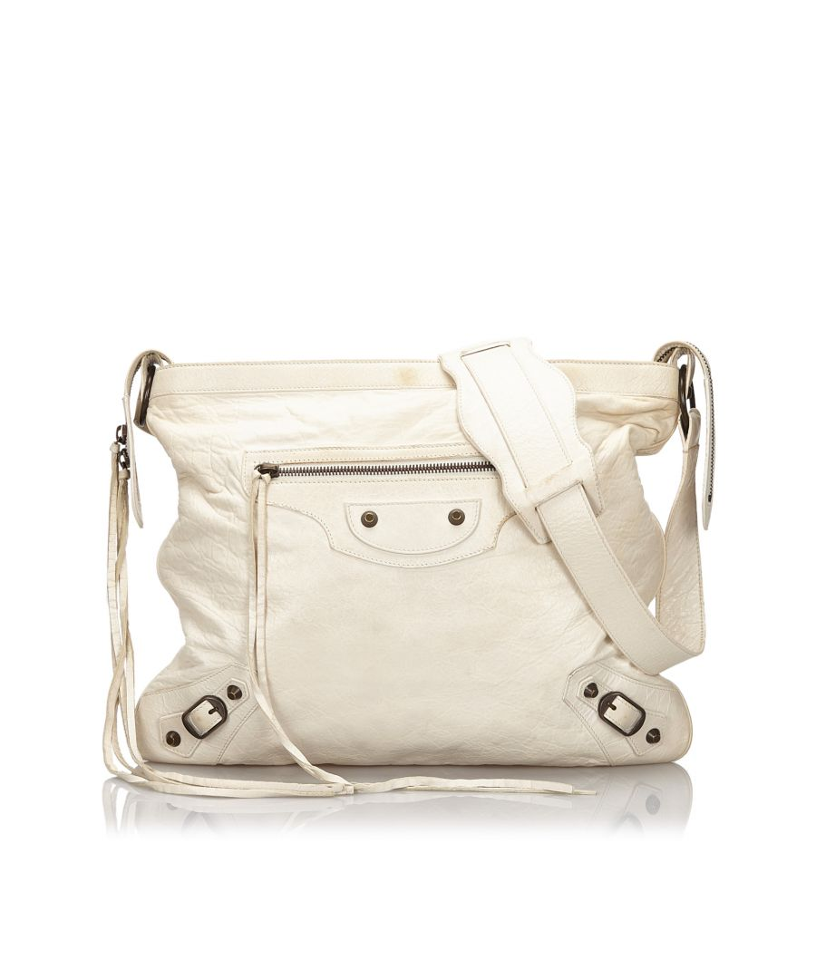 Image for Vintage Balenciaga Motocross Classic Day Messenger Bag White