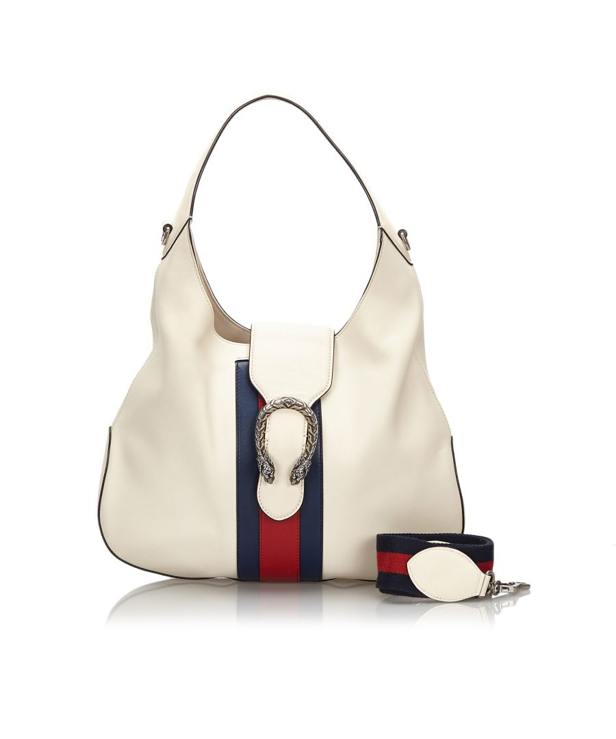 Image for Vintage Gucci Dionysus Web Leather Hobo White