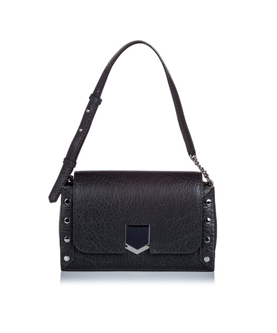 Image for Vintage Jimmy Choo Embossed Lockett Shoulder Bag Black