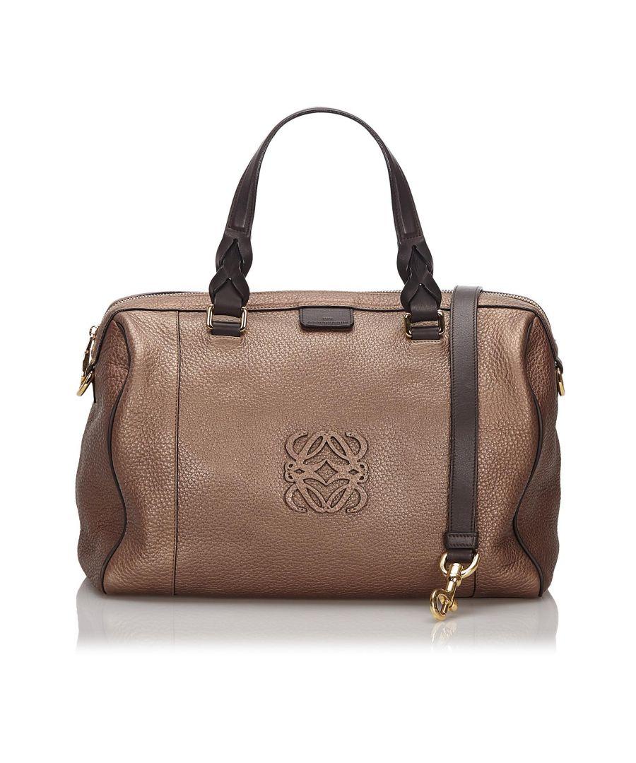 Image for Vintage Loewe Leather Fusta 31 Satchel Brown