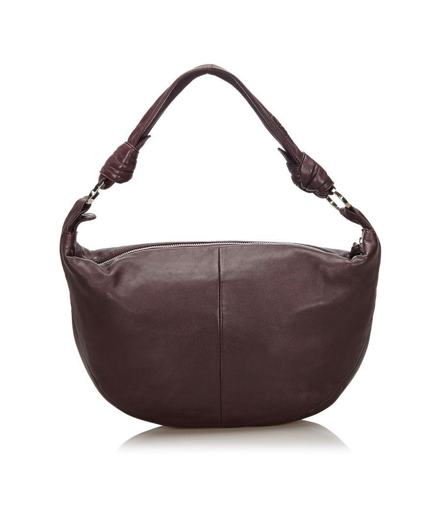 Image for Vintage Loewe Leather Shoulder Bag Red