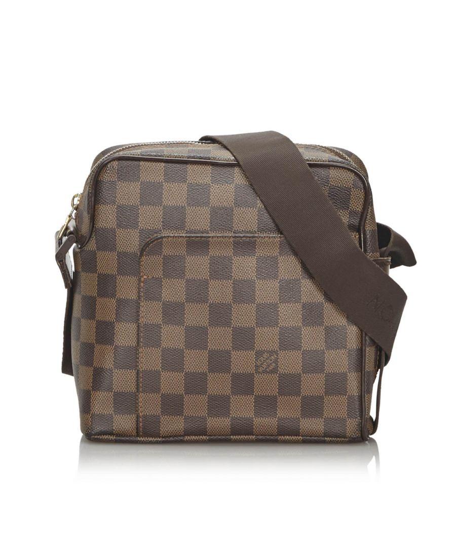 Image for Vintage Louis Vuitton Damier Ebene Olav PM Brown