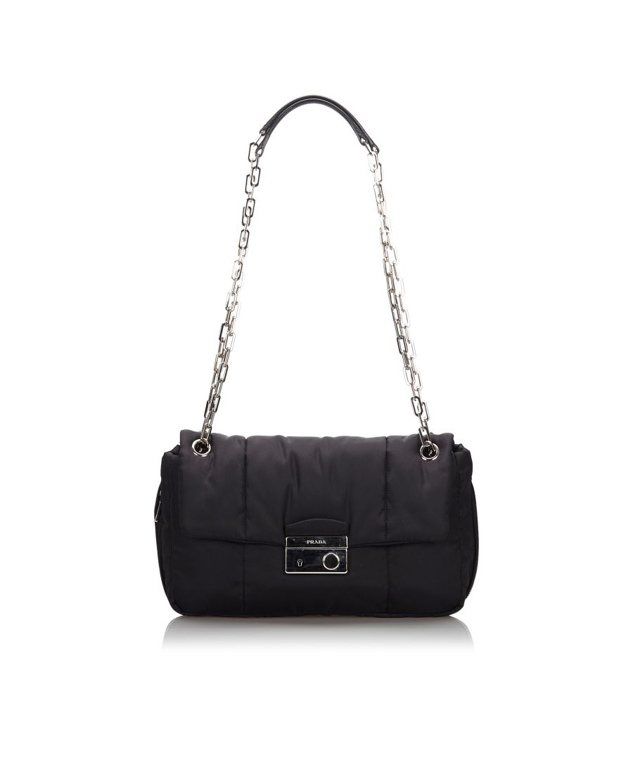 Image for Prada Tessuto Bomber Shoulder Bag Black
