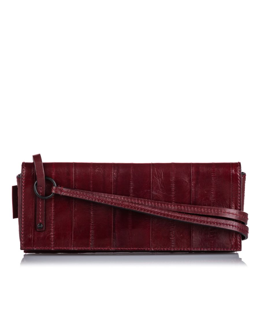 Image for Vintage Gucci Leather Clutch Bag Red