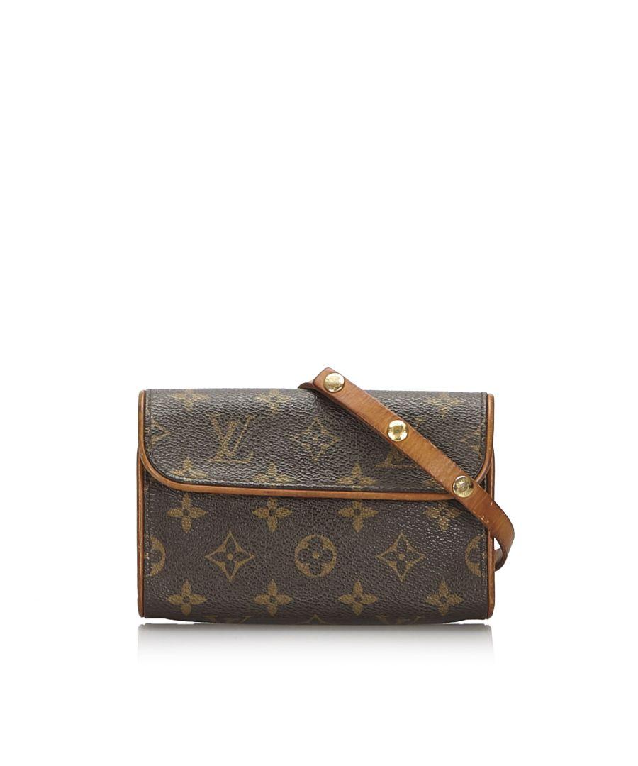 Image for Vintage Louis Vuitton Monogram Florentine Pochette Brown