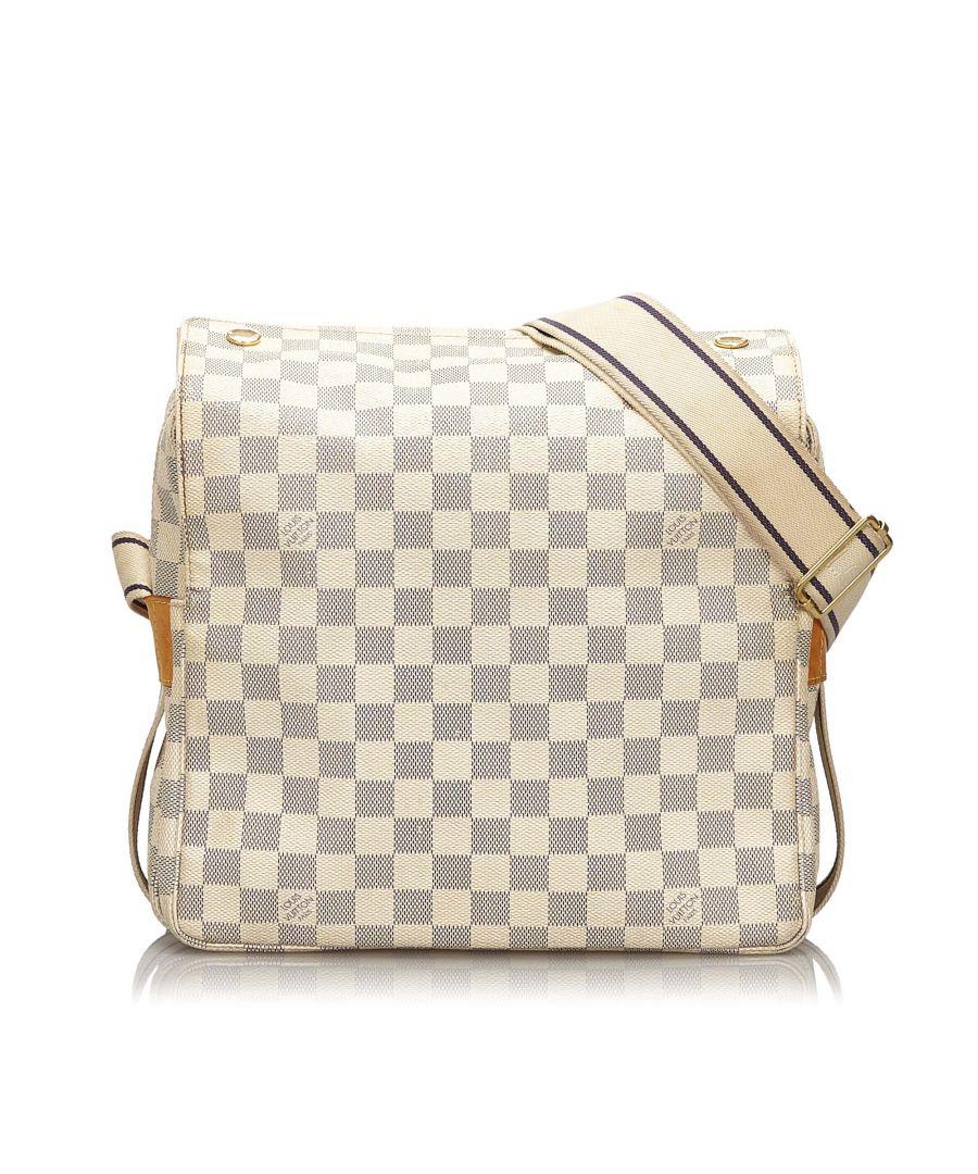 Image for Louis Vuitton Damier Azur Naviglio White
