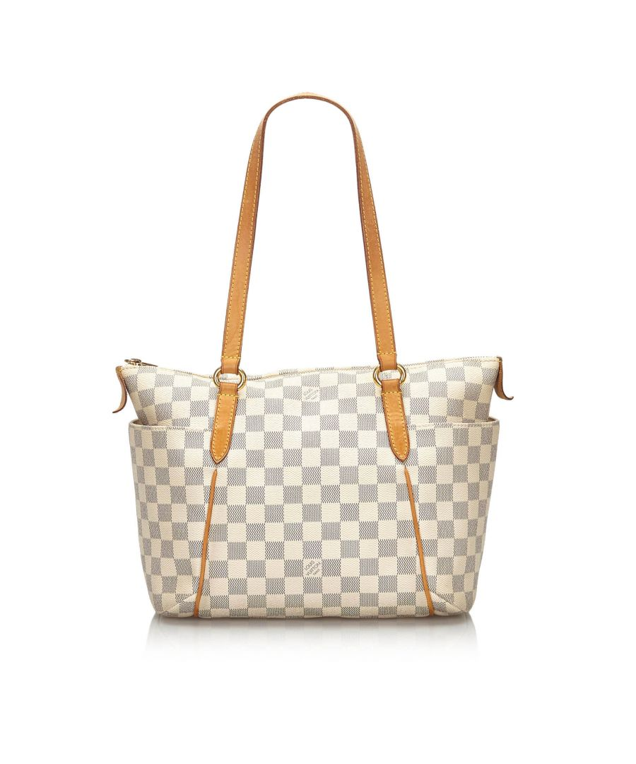Image for Vintage Louis Vuitton Damier Azur Totally PM White