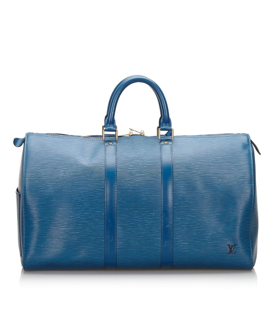 Image for Vintage Louis Vuitton Epi Keepall 50 Blue