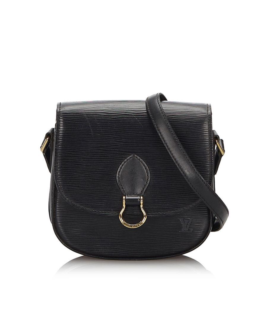 Image for Vintage Louis Vuitton Epi Saint Cloud Black