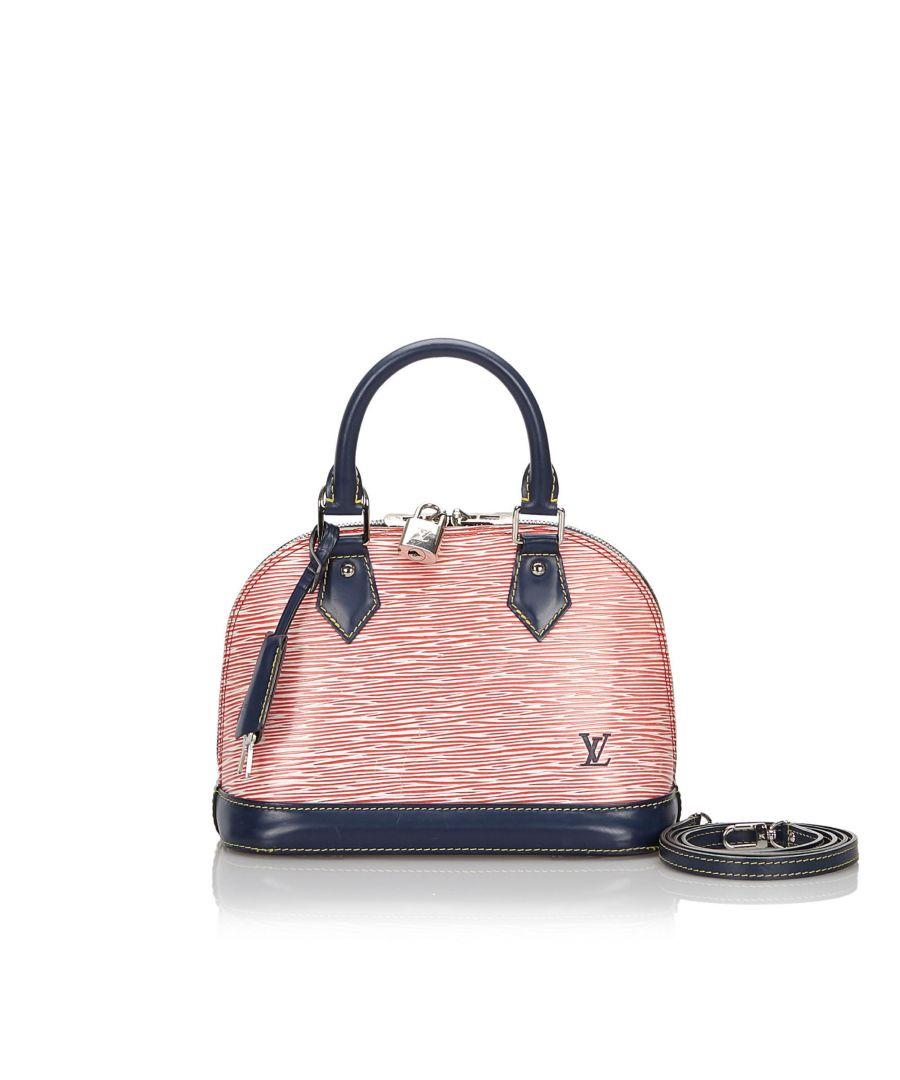 Image for Louis Vuitton Epi Denim Alma BB Red