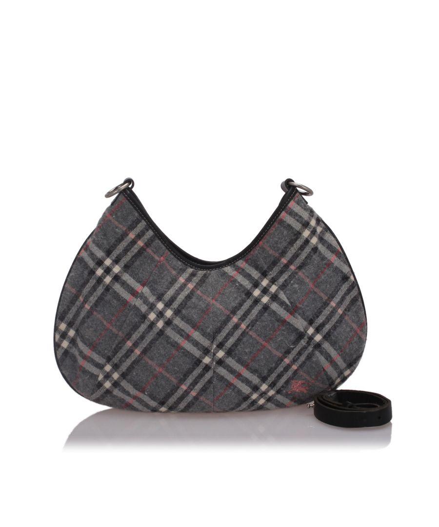 Image for Burberry Nova Check Woold Hobo Bag Black