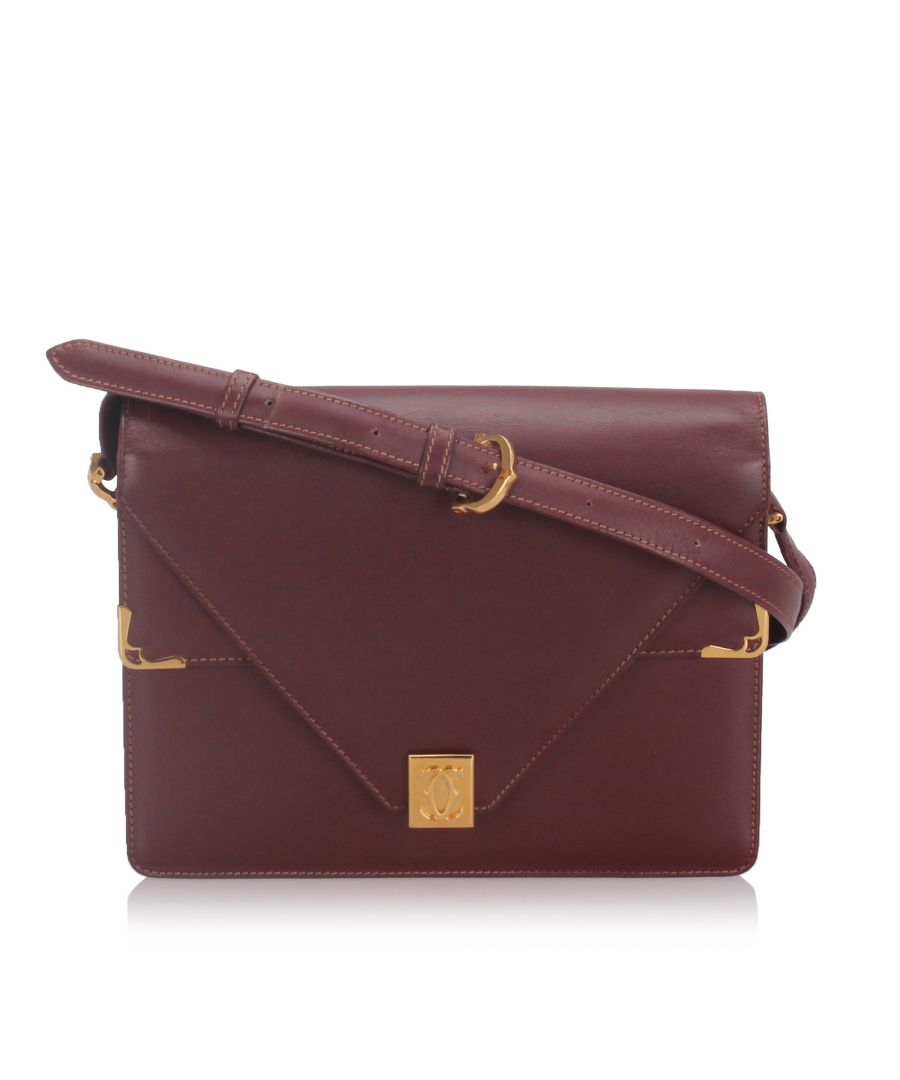 Image for Cartier Leather Must de Cartier Crossbody Bag Red
