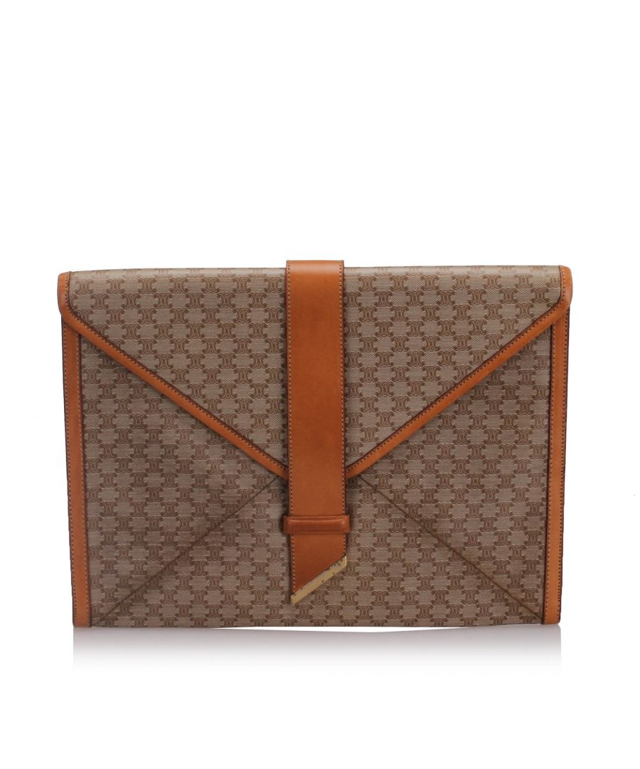 Image for Celine Macadam Clutch Bag Brown