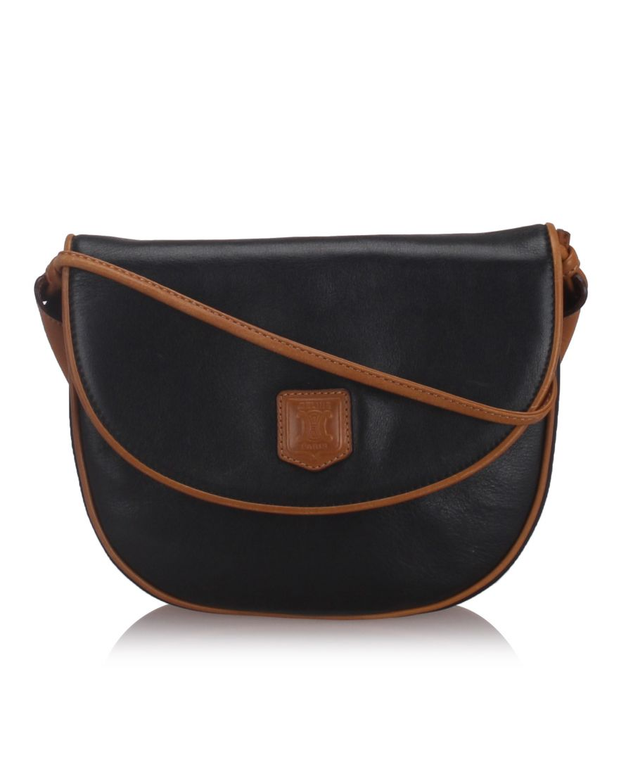 Image for Celine Leather Crossbody Bag Black