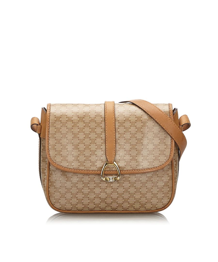 Image for Celine Macadam Crossbody Bag Brown