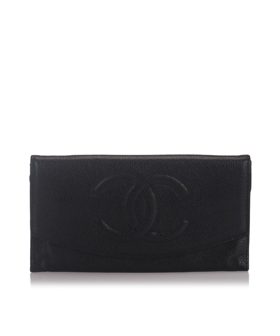 Image for Chanel Caviar Leather Wallet Black