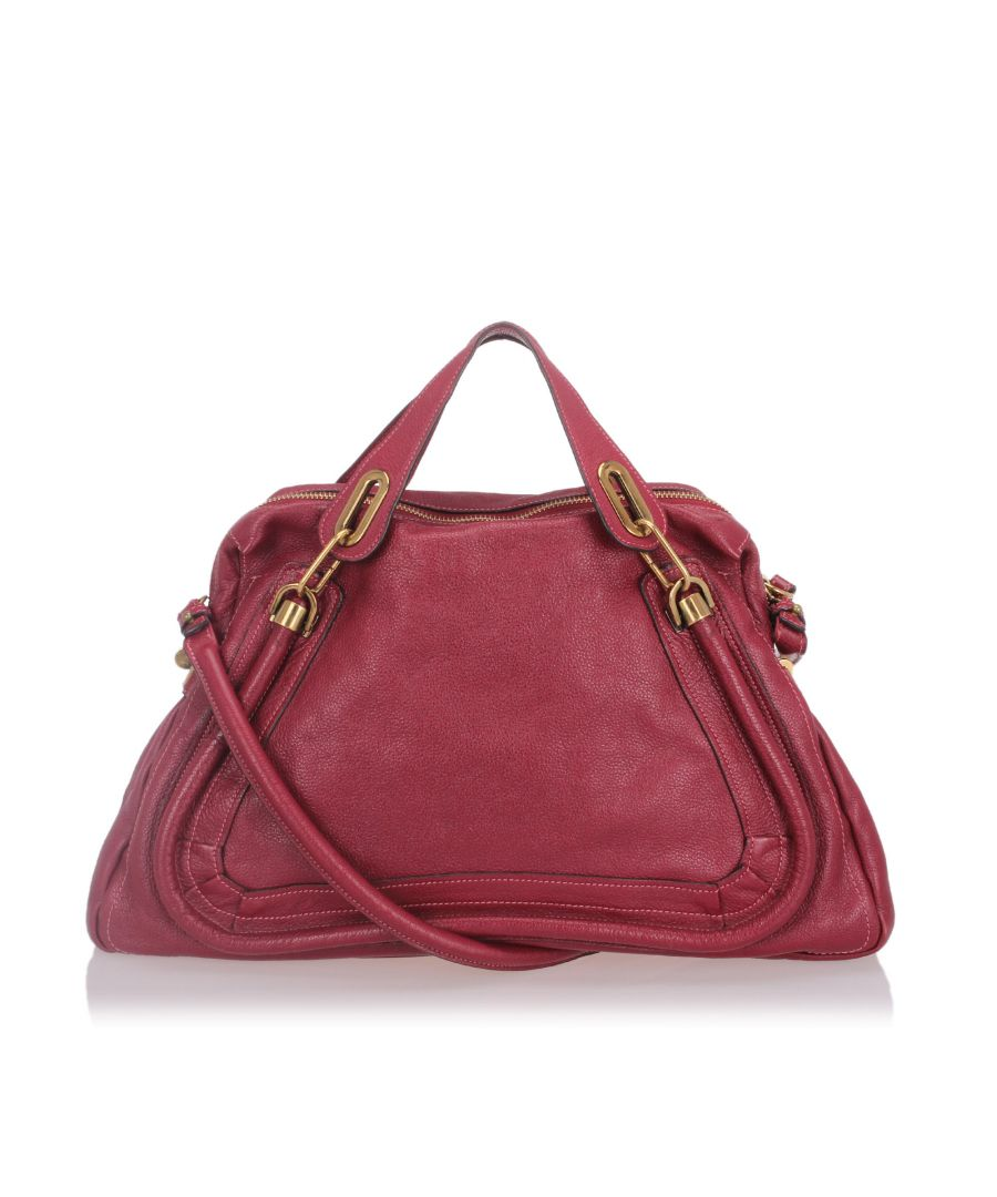 Image for Chloe Leather Paraty Satchel Red
