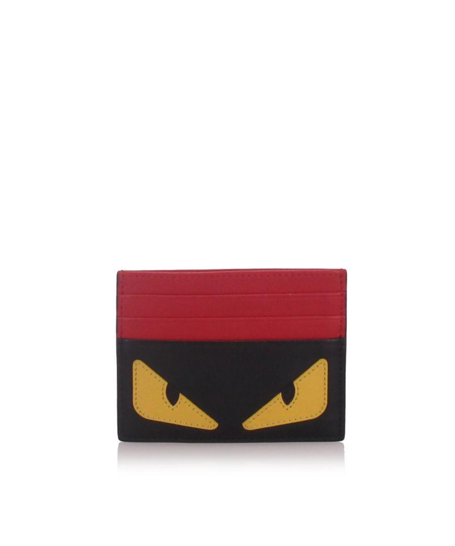 Image for Fendi Monster Card Holder Black