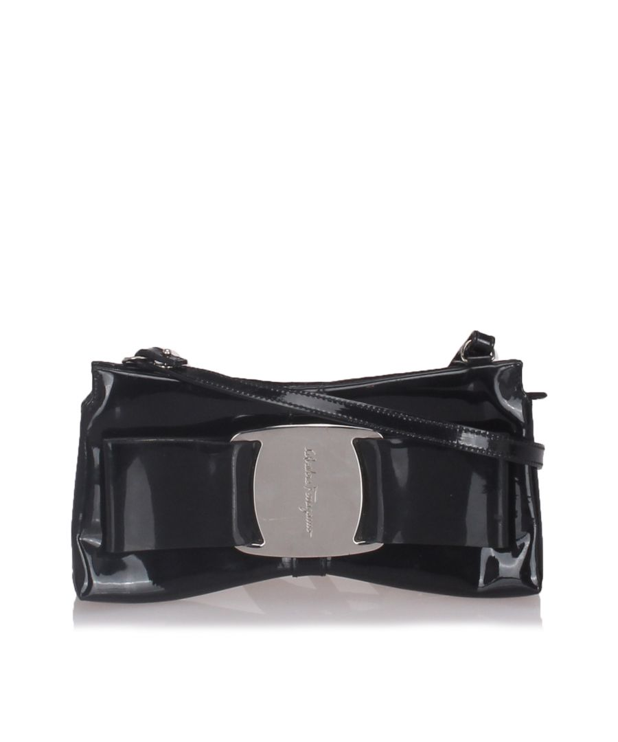 Image for Ferragamo Vara Bow Crossbody Bag Black